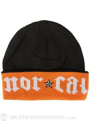 Nor Cal Medieval Beanie Black/Orange