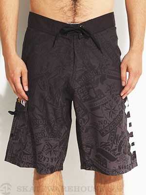 Nor Cal Medieval Boardshorts Black 28
