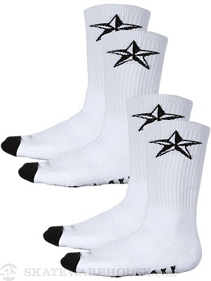 Nor Cal Overtime 2 pk. Socks White
