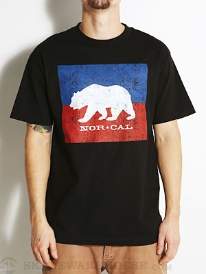 Nor Cal Split Bear Tee Black SM