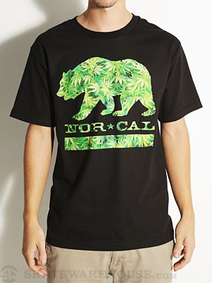 Nor Cal Weed Bear Tee Black MD