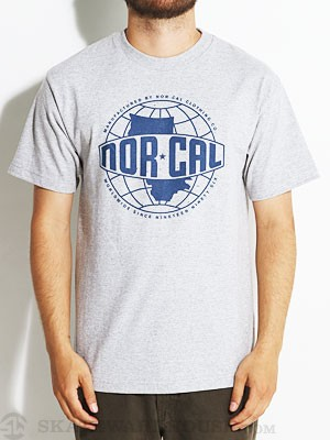 Nor Cal World Wide Tee Athletic Heather MD