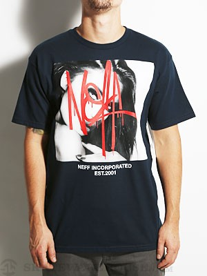 Neff Bombed Tee Navy MD