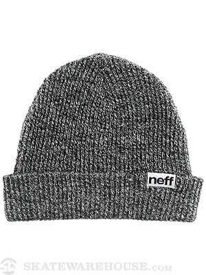 Neff Fold Heather Beanie Black/White