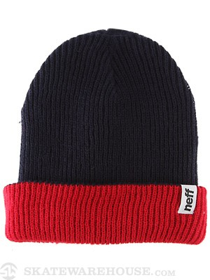 Neff Fold Reversible Beanie Navy/Red