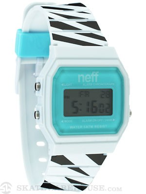 Neff Flava Watch White Stripe/Cyan