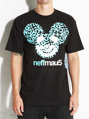 Neffmau5 Icon Pattern Tee Black/Turquoise MD