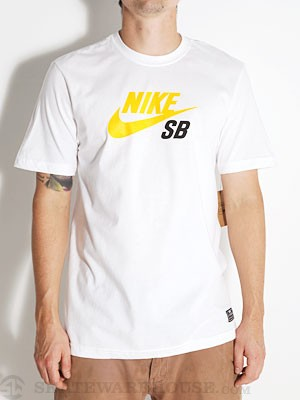 Nike SB Icon '13 Tee White/Orange LG
