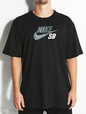 Nike SB Dri-Fit Icon Logo Tee Black/Grey SM