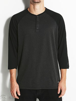 Nike SB 3/4 Sleeve Henley Black Heather MD