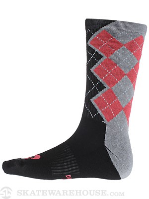 Nike SB Argyle Dri-Fit Socks Base Grey/Crimson LG