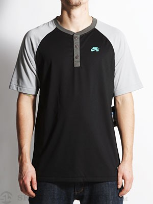 Nike SB Davis Dri-Fit Henley Black/Grey MD