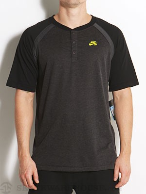 Nike SB Davis Dri-Fit Henley Black Heather MD