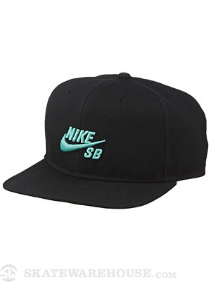 Nike SB Icon Snapback Hat Black/Black