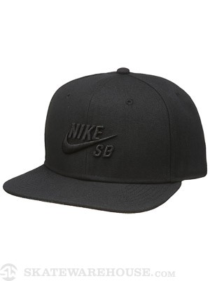Nike SB Icon Snapback Hat Black Out