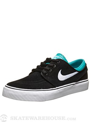Nike SB Kids Janoski Shoes  Black/White/Turbo Green