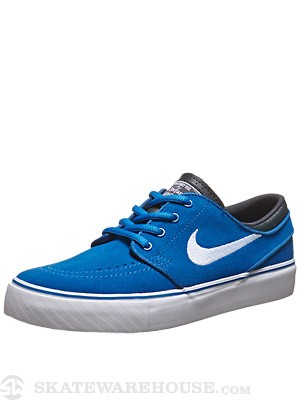 Nike SB Kids Janoski Shoes  Military Blue/White