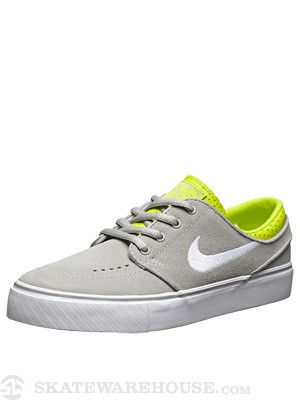 Nike SB Kids Janoski Shoes  Base Grey/Venom Green