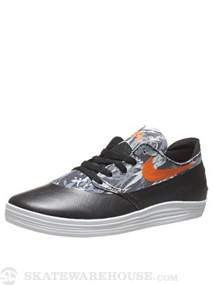 Nike SB Lunar One Shot Shoes  Black/Safety Orange