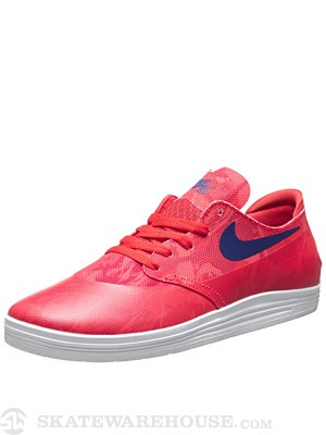 Nike SB Lunar One Shot Shoes  Light Crimson/Deep Royal