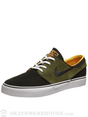 Nike SB Janoski Shoes  Black/Legion Green/Orange