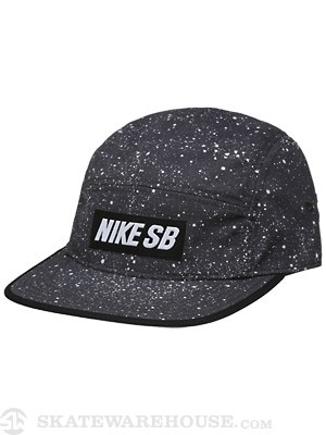 Nike SB Speckle 5 Panel Hat Black