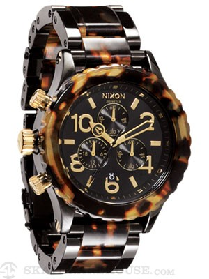 Nixon The 42-20 Chrono Watch  All Black/Tortoise