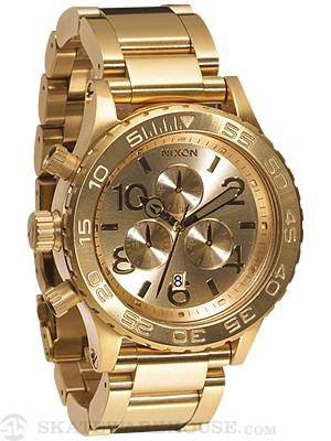Nixon The 42-20 Chrono Watch  All Gold