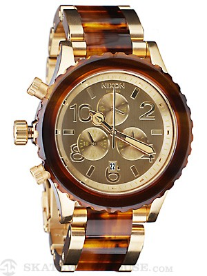 Nixon The 42-20 Chrono Watch  Gold/Molasses