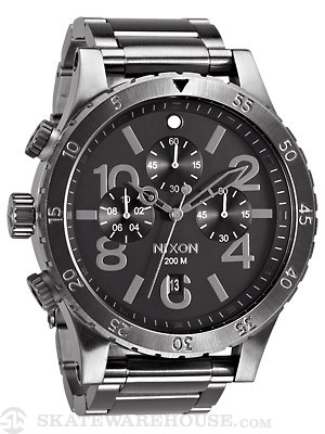 Nixon The 48-20 Chrono Watch  All Gunmetal
