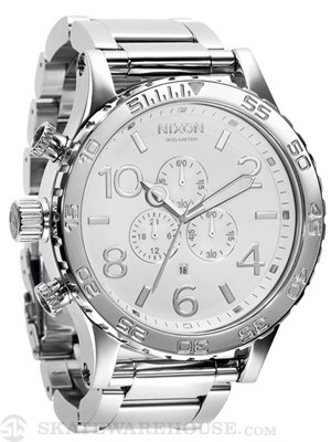 Nixon The 51-30 Chrono Watch  High Polish/White