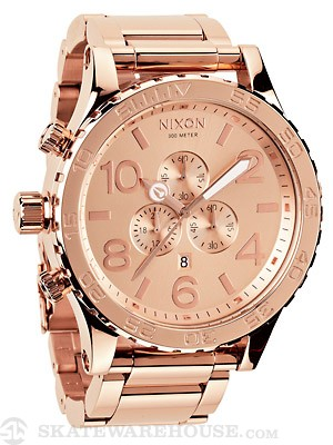 Nixon The 51-30 Chrono Watch  All Rose Gold