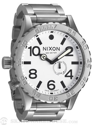Nixon The 51-30 Watch  Sanded Steel/White