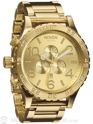 Nixon The 51-30 Chrono Watch  All Gold