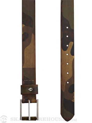 Nixon Americana Leather Belt Woodland Camo Small