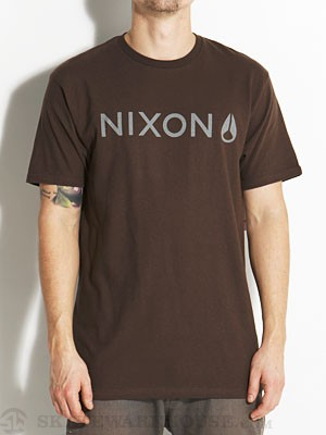 Nixon Basis Tee Brown/Grey XL