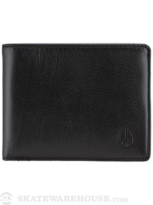 Nixon Cape Bi-Fold Leather Wallet All Black