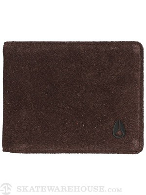 Nixon Cape Bi-Fold Leather Wallet Brown Suede