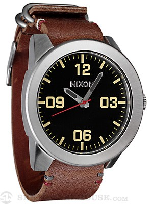 Nixon The Corporal Watch  Black/Brown