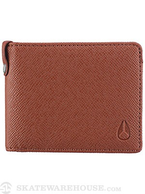 Nixon Cape Textured Wallet Honey Brown
