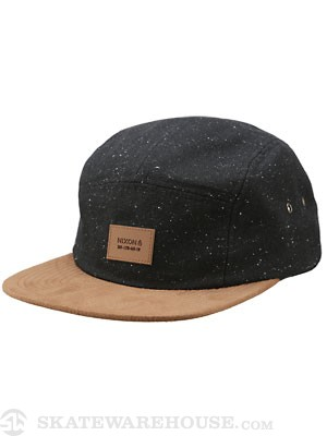 Nixon Lowtide 5 Panel Strap Back Black Speckle