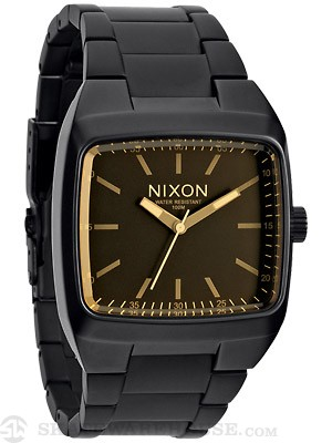 Nixon The Manual II Watch  Matte Black/Orange Tint