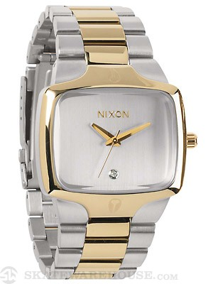 Nixon The Player Watch  Silver/Champagne Gold