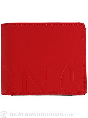Nixon Rubber Fuller Wallet Red