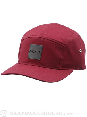 Nixon Snapper 5 Panel Hat Dark Red Adj.