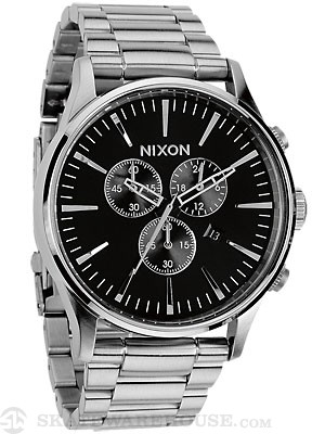 Nixon The Sentry Chrono Watch  Black
