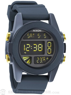 Nixon The Unit Watch  Steel Blue/Yellow Ano