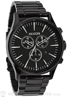 Nixon The Sentry Chrono Watch  All Black