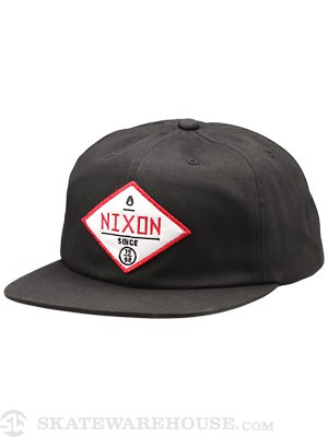 Nixon Series Snap Back Hat Black Adj.