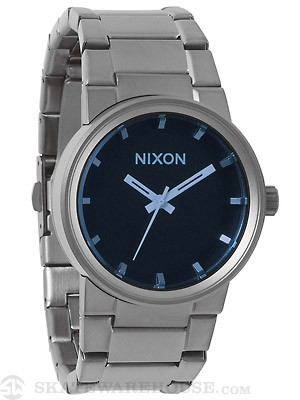 Nixon The Cannon Watch  Gunmetal/Blue Crystal